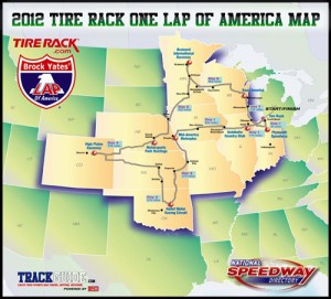 2012 One Lap of America Map