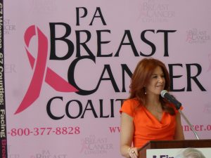 Dr. Jennifer Simmons - Chief of Breast Surgery, Einstein Medical Center Montgomery, shares Nicole's story at a recent opening reception for the PBCC's Photo Exhibit, 67 Women 67 Counties: Facing Breast Cancer in Pennsylvania at Einstein.