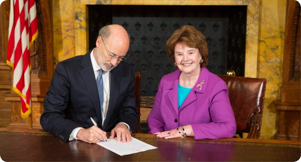 Pat and Governor Wolf rounded corners