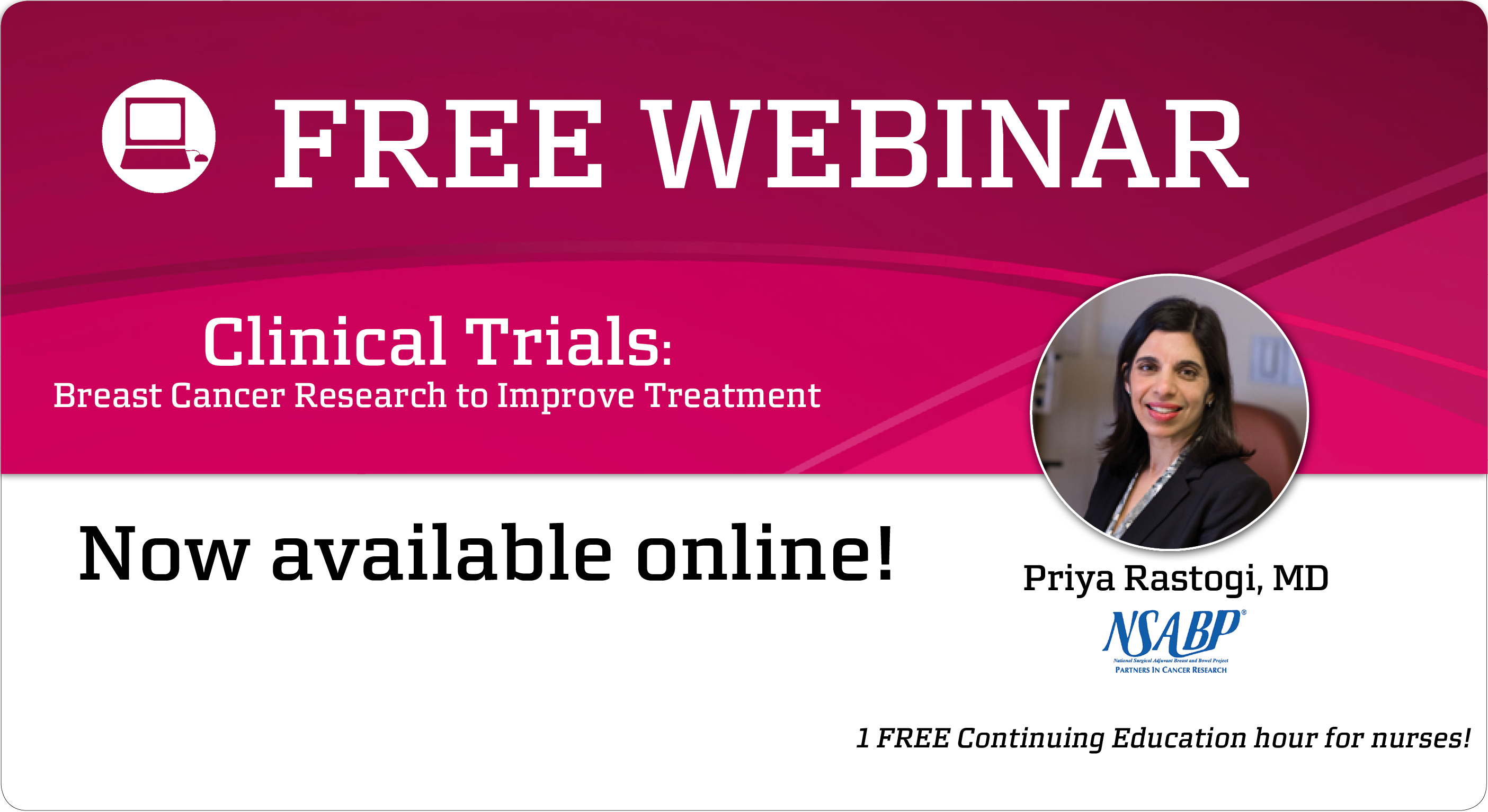 Clinical trials webinar now available online
