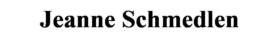 Jeanne Schmedlen